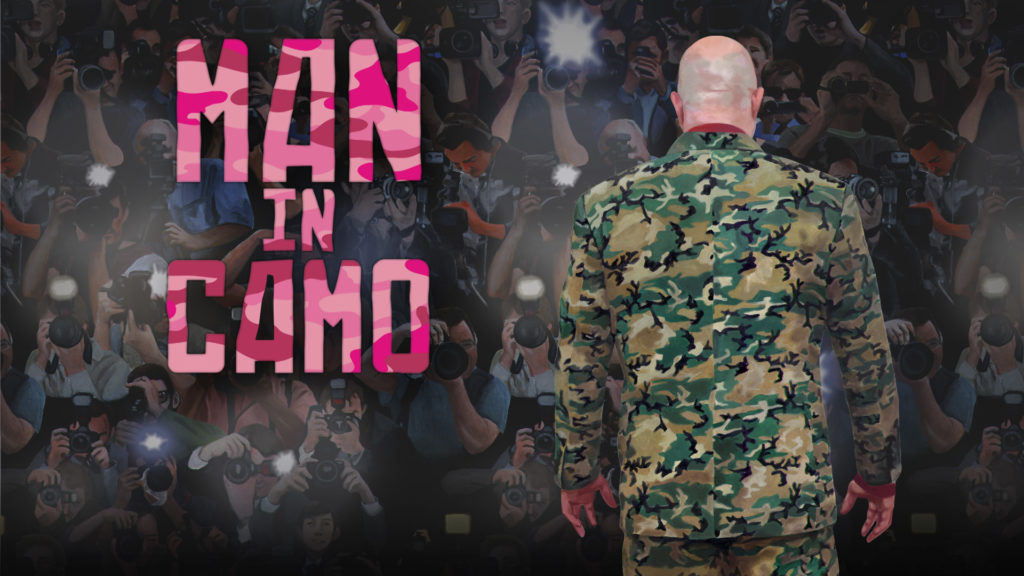 MAN IN CAMO banner
