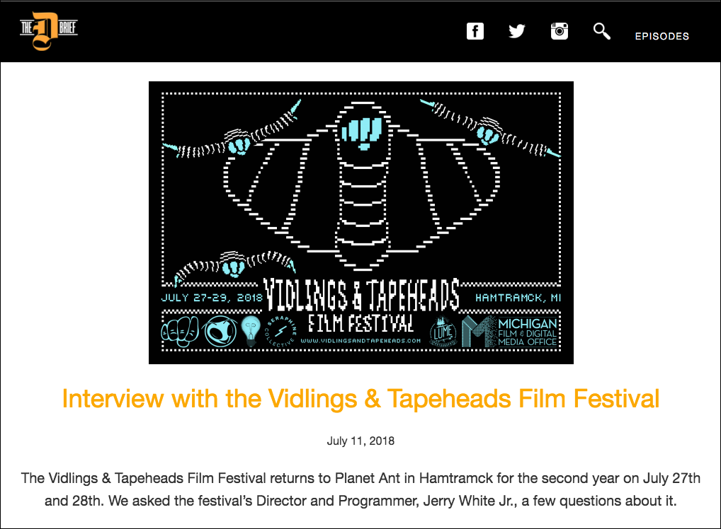 VTFF2018 The D Brief Interview
